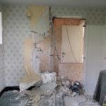 Muur doorbreken tijdens renovatie