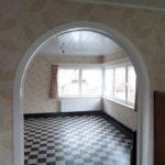 Resultaat doorgang naar woonkamer na renovatie
